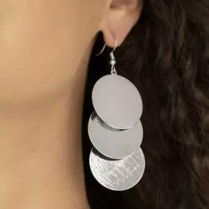 Paparazzi ~ Dream Sheen Silver Dangle Earrings